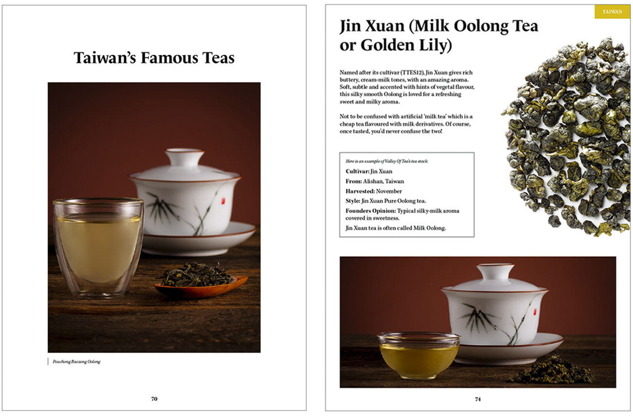 An example of one of the pages from the Valley of Tea ebook