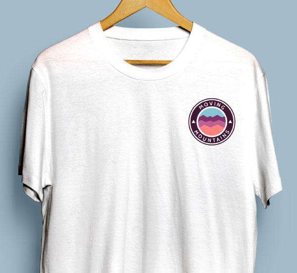 A photo of a GB Sport Climbing white t-shirt