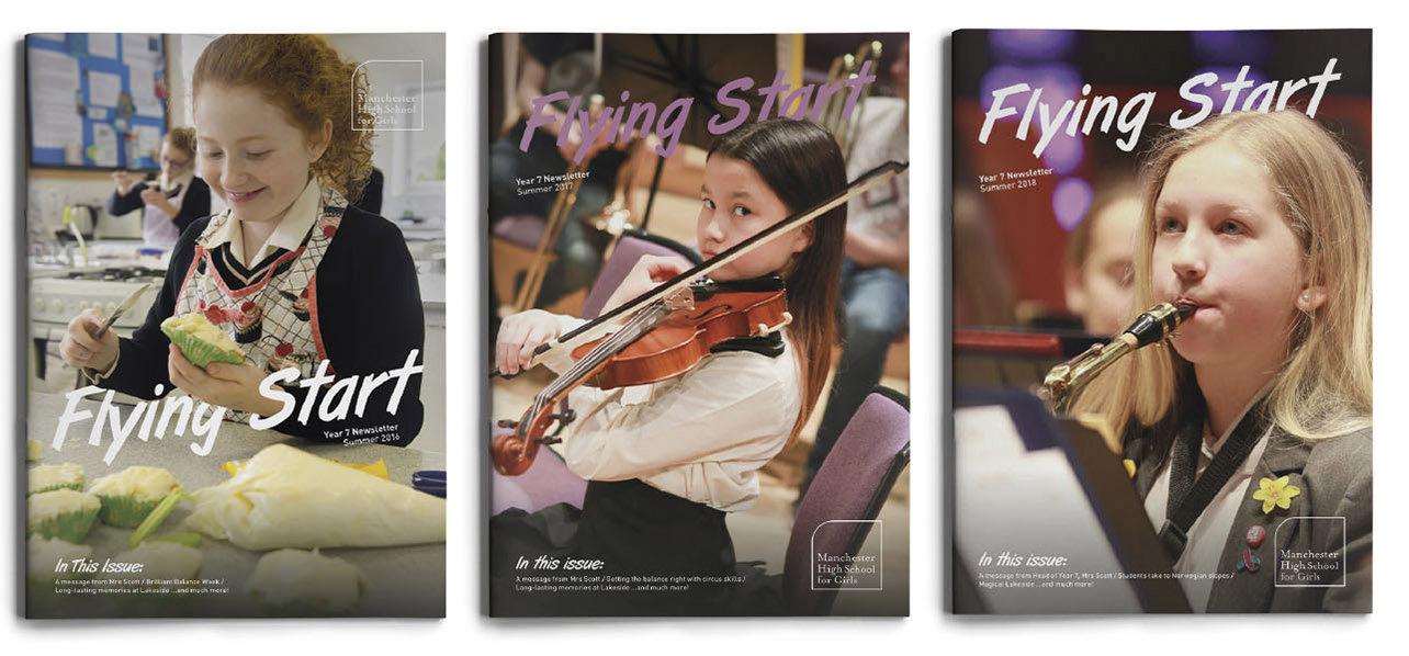 Examples of the Manchester High School For Girls Flying Start brochure