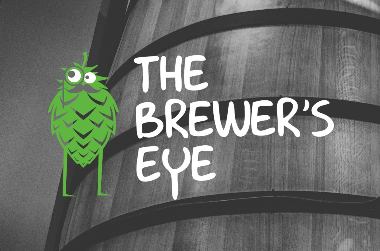 The full Brewer's Eye logo with brewery image behind