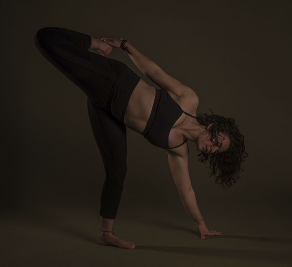 Photo of a woman doing a yoga pose