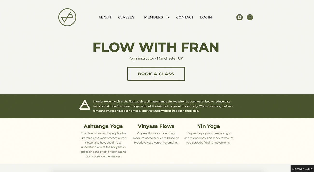 The Flow With Fran lo impact website
