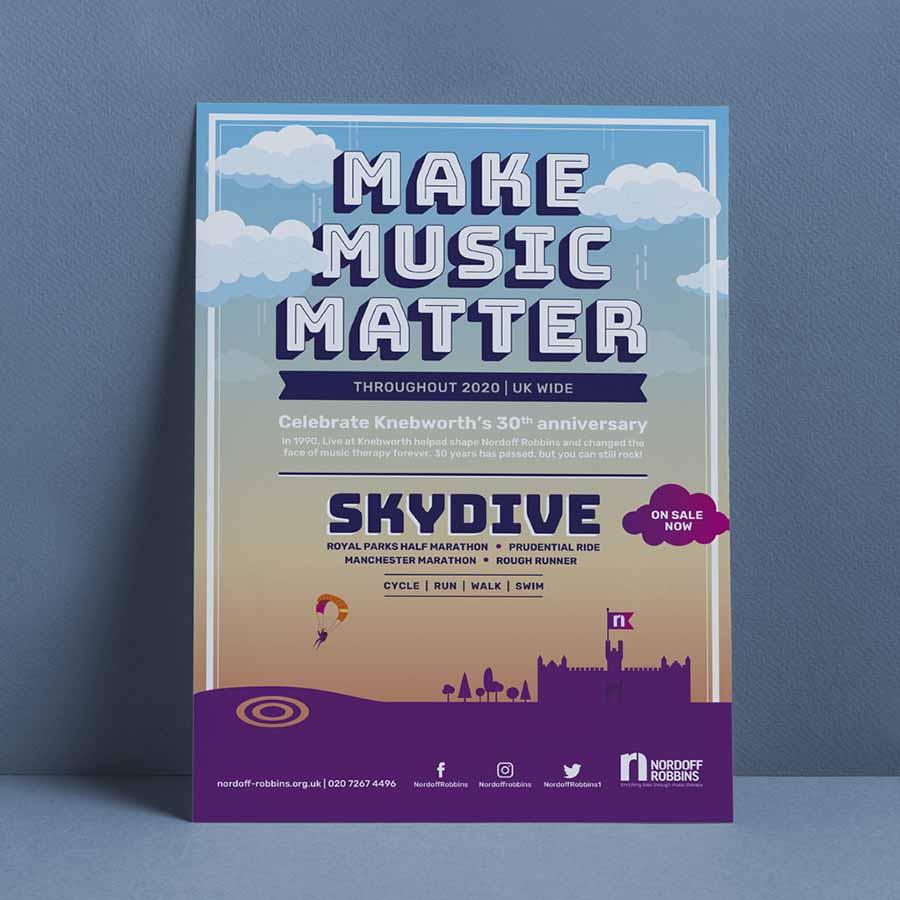 Music poster for Nordoff Robbins 'Make Music Matter' festival
