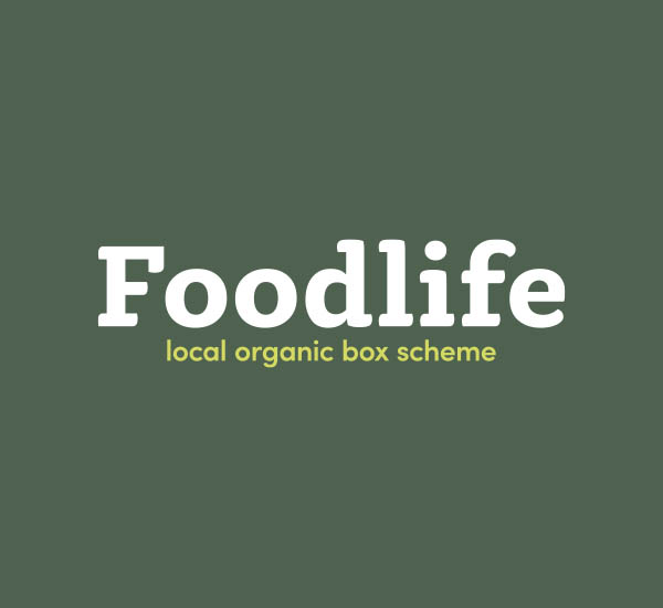 Foodlife logo on a green background
