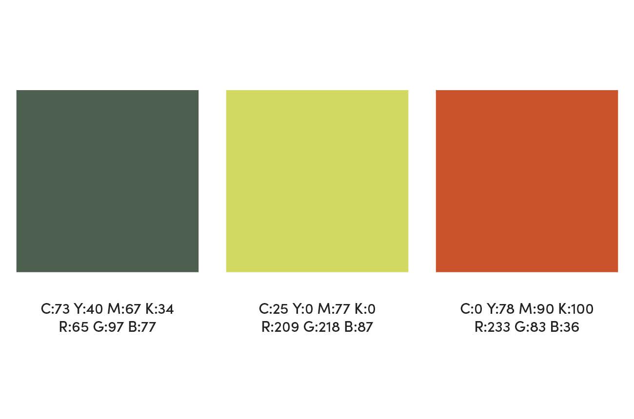Foodlife Branding Colour Scheme