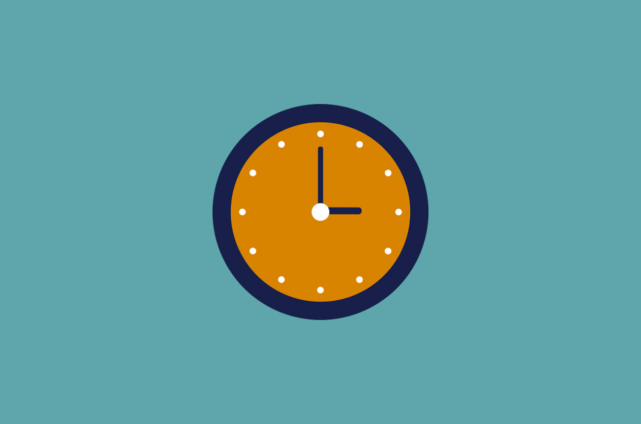 Prostate Cancer Research Clock icon with turquoise background