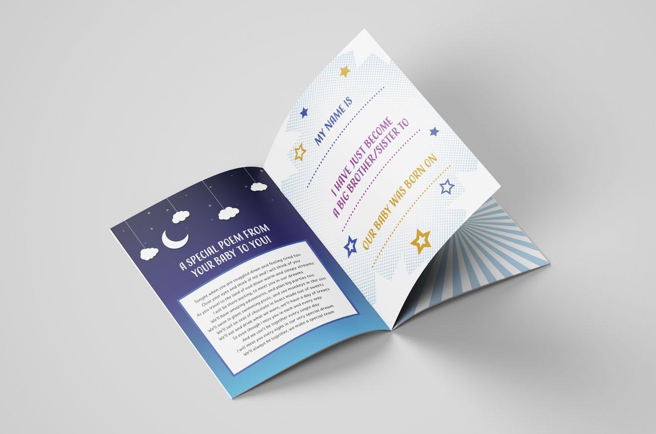 Spoons printed designed leaflet inside spread
