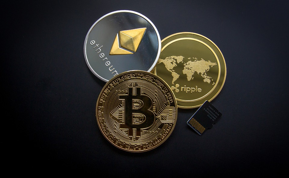 Bitcoin and Ethereum and Ripple Coins