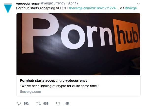 Publication de Pornhub