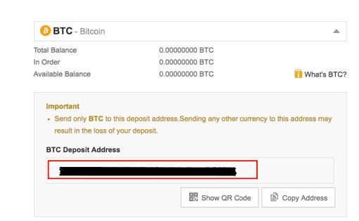 BTC Einzahlungsadresse