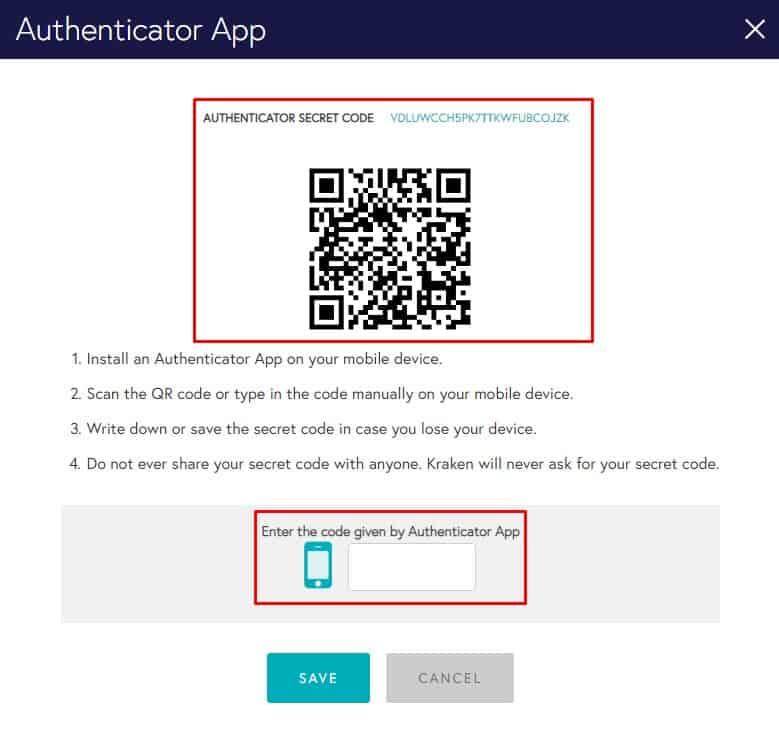 Authentification par code QR