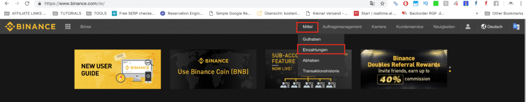 Binance-dashboard