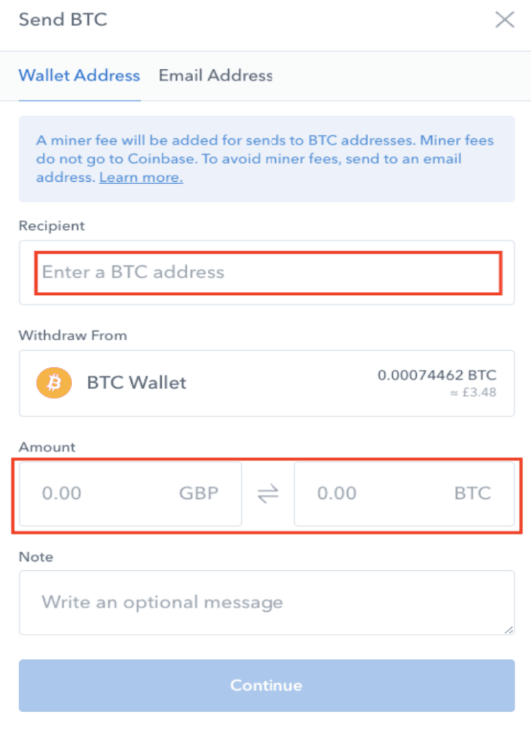 Billetera BTC