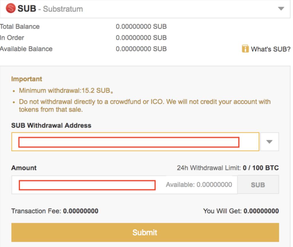 Dirección de pago SUB