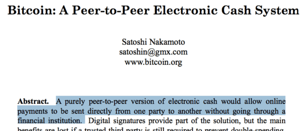 Peer-to-Peer electronic cash
