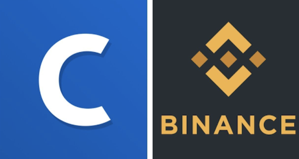 Coinbase and Binance Logos