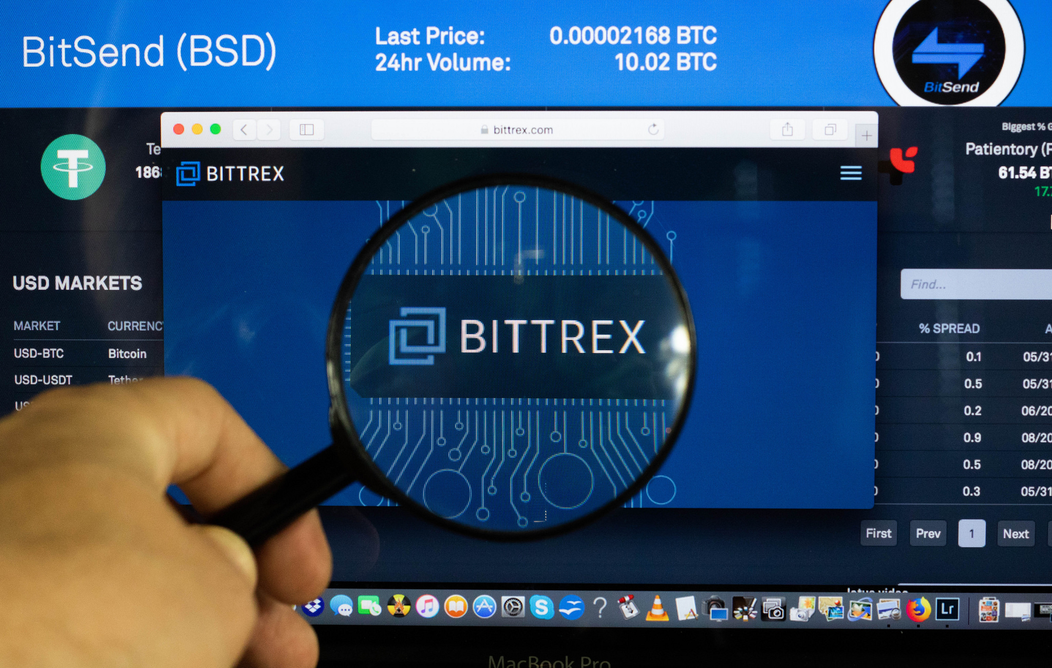 Bittrex magnifying glass