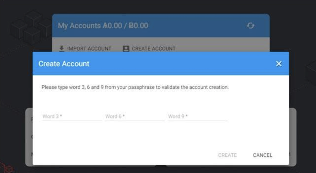 Ark Wallet Account Verification