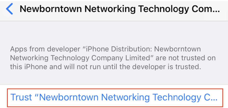 iOS TRON App vertrauen