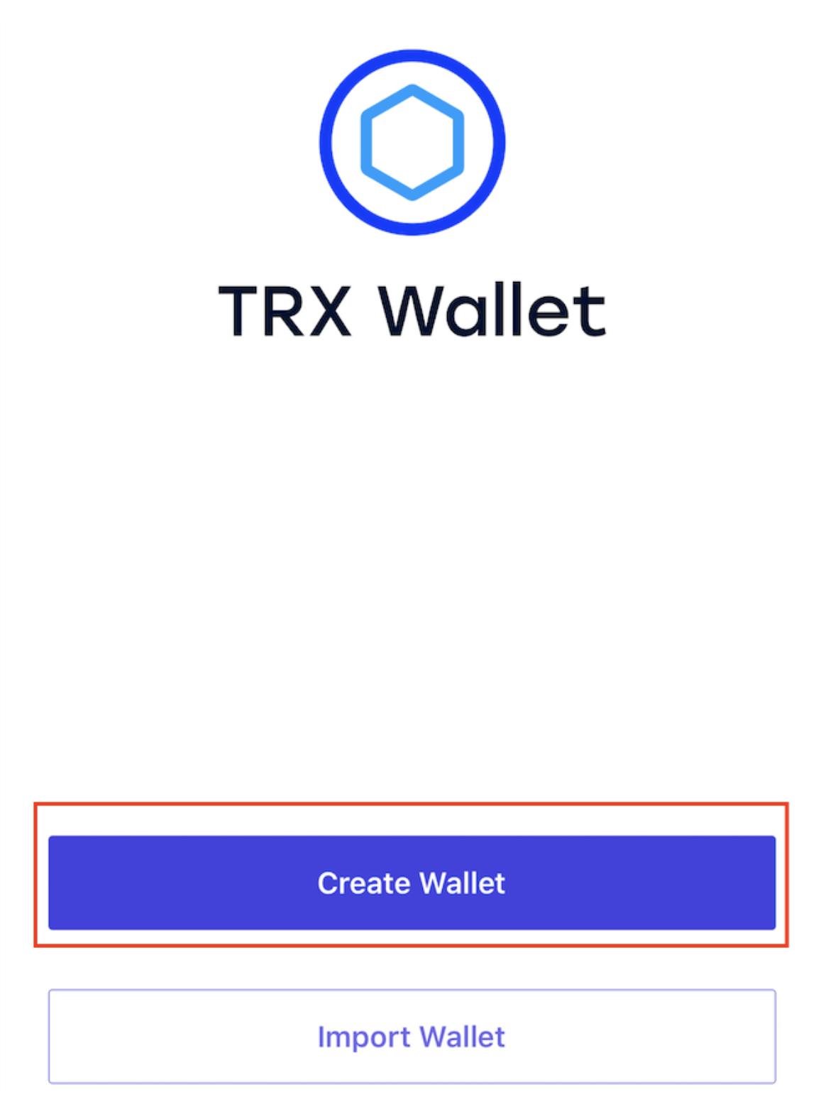 iOS TRON App Neues Konto erstellen