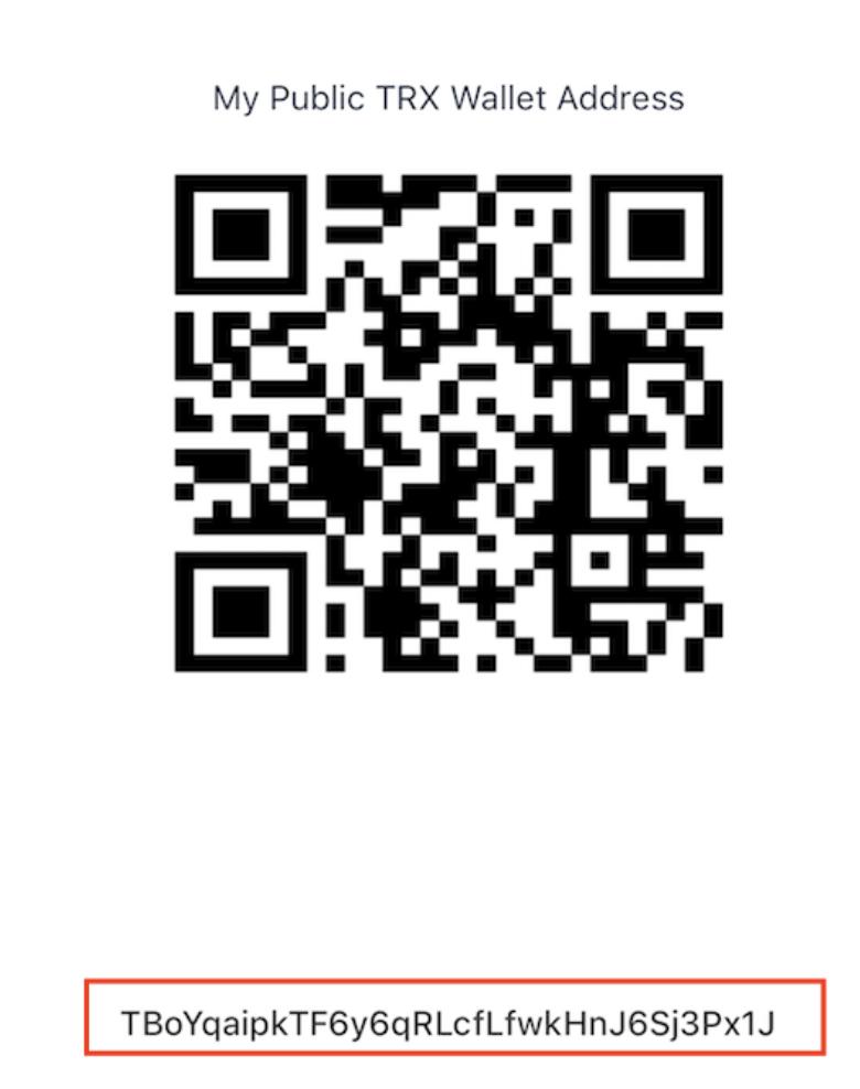 iOS App Wallet Adresse