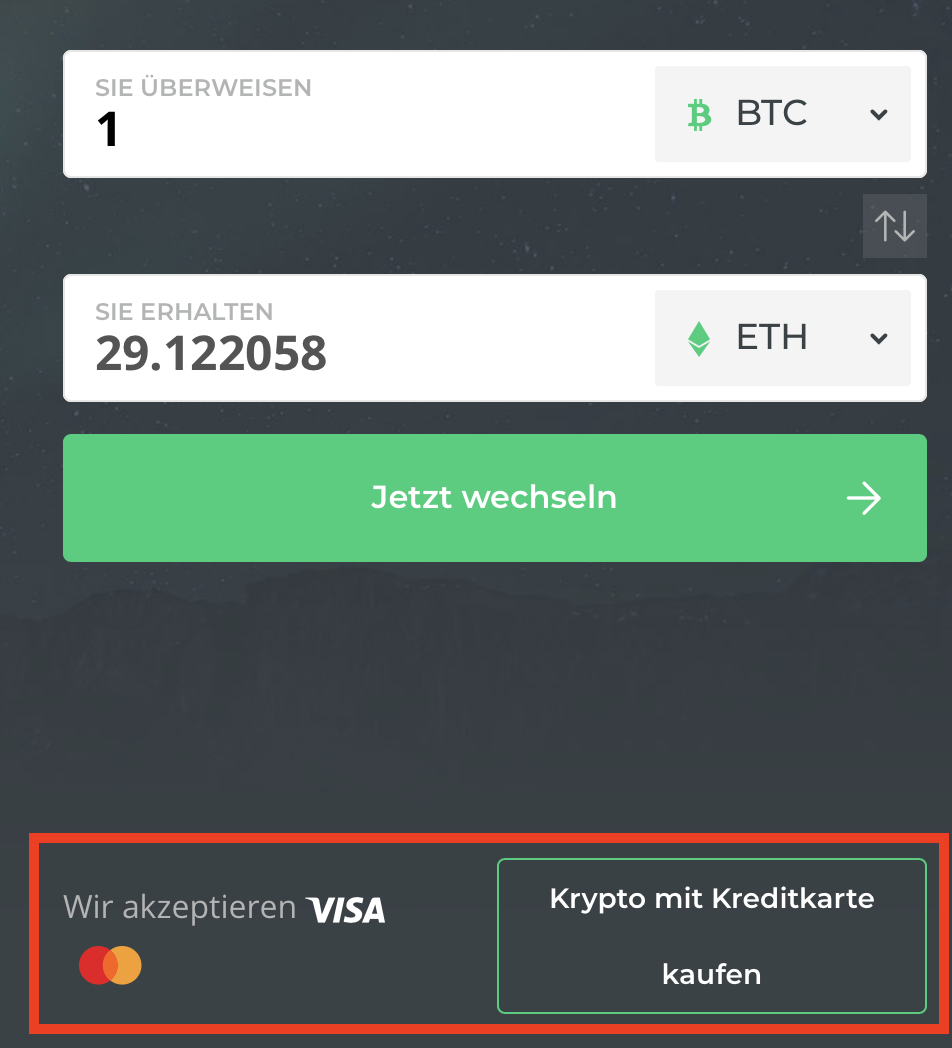 Changelly Krypto kaufen