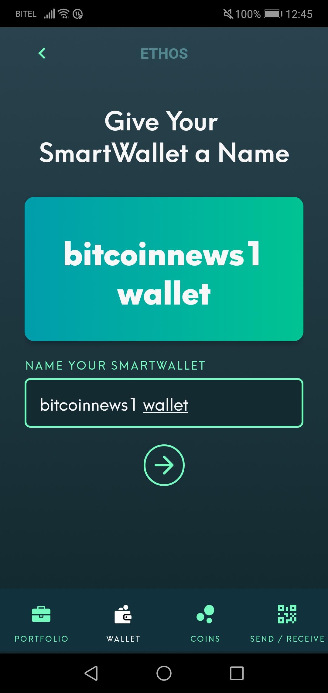 Wallet benennen