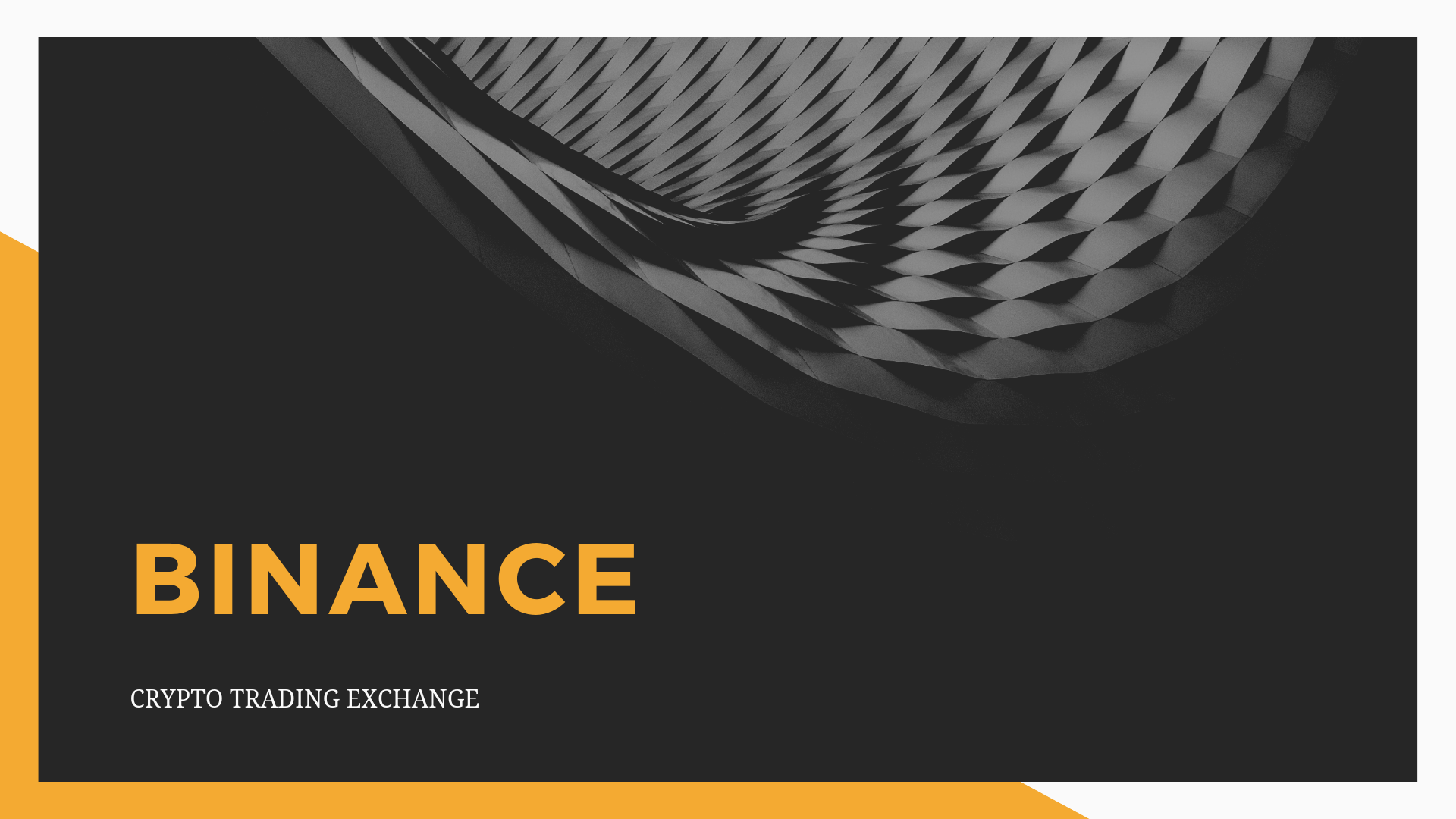 Binance Logo Zwart