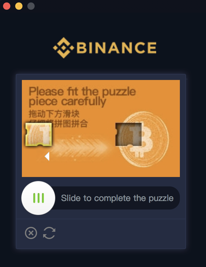 Binance login beveiligingscontrole