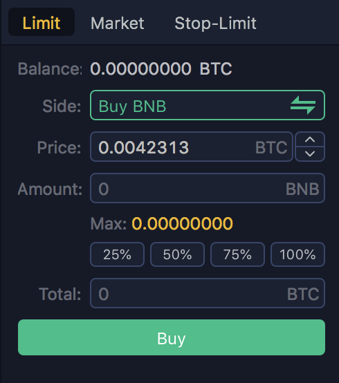 Binance-limietorder