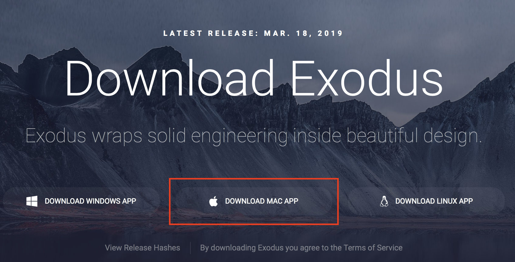Exodus Download Optionen