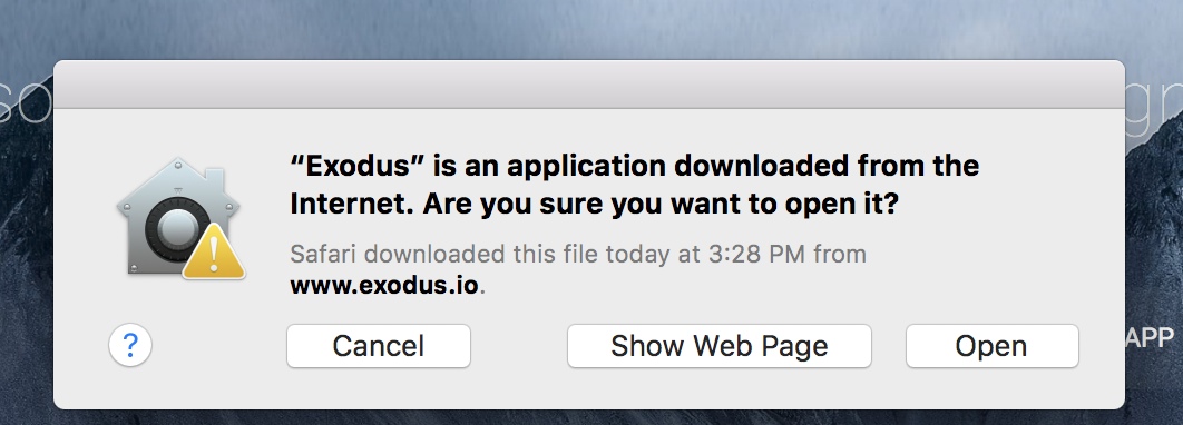 MAC Sicherheitswarnung