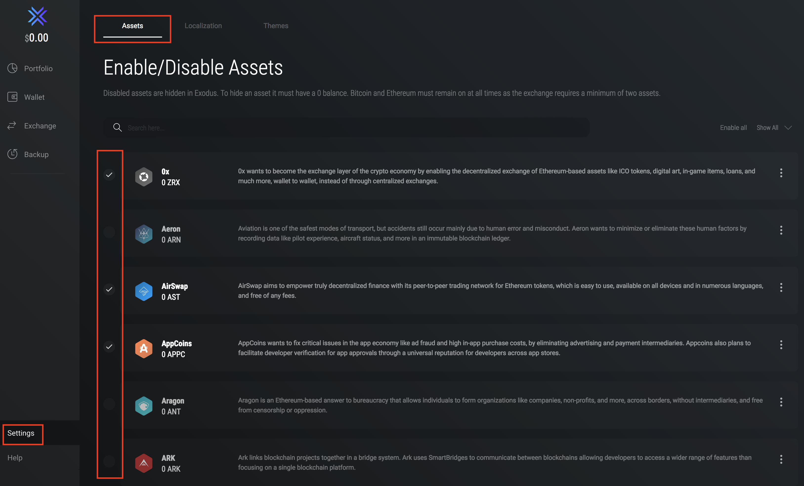 Exodus Assets