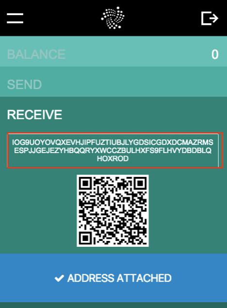 IOTA Wallet-avsändaradress