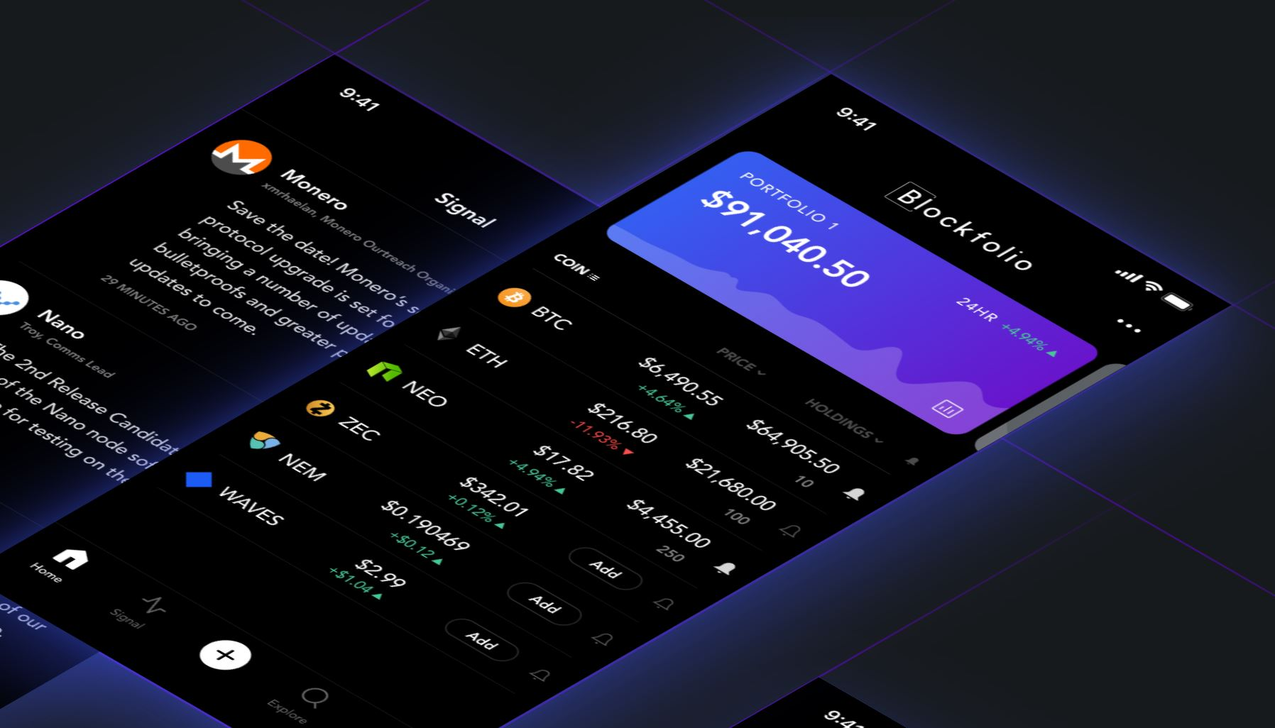 Blockfolio App Overview