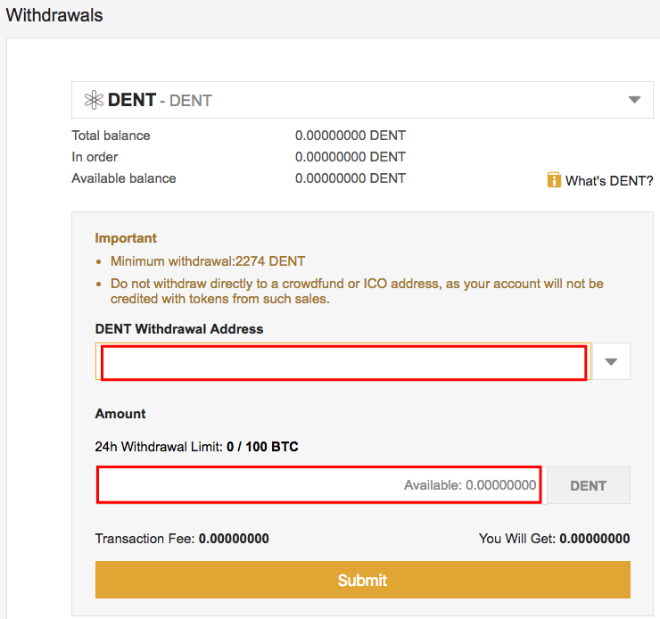 How To Withdraw Dent coin from Binance exchange