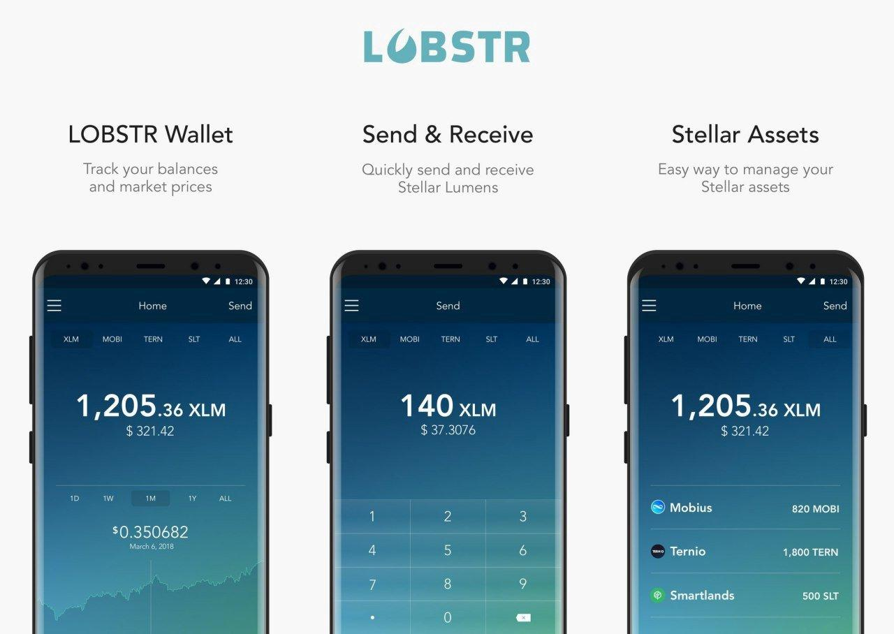 What is the Lobstr Wallet graphic