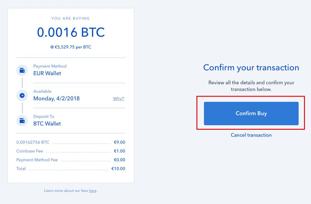C贸mo completar su pedido de criptomonedas en Coinbase
