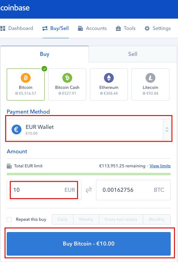 C贸mo comprar criptomonedas en Coinbase