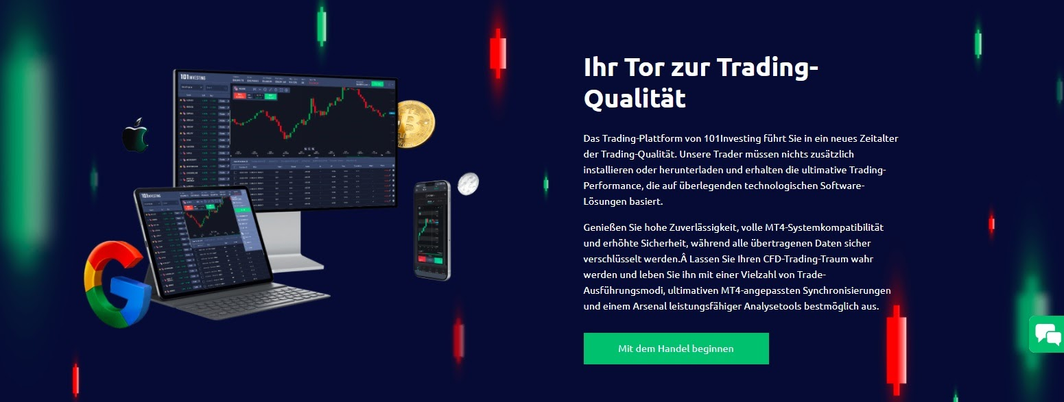 101Investing website trading platform explained
