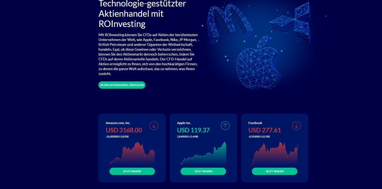 Торговля акциями на основе технологий ROInvesting