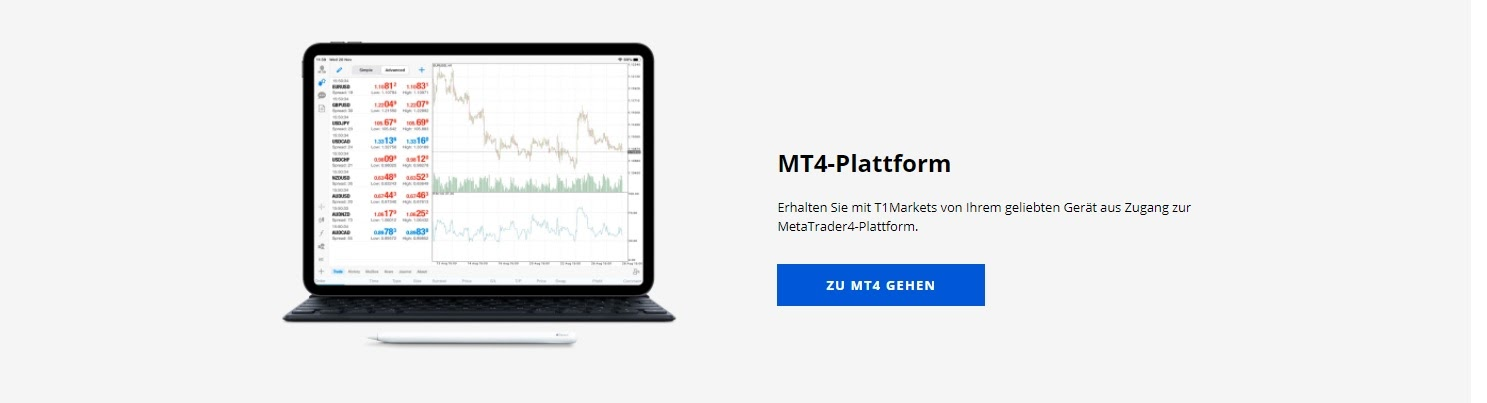 T1 Markets MT4 Plattform