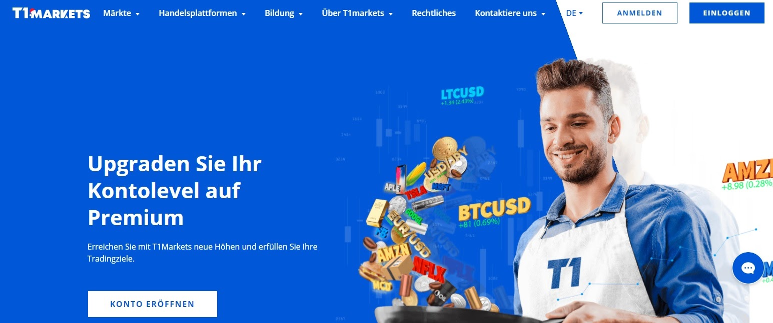 Сайт T1 Markets