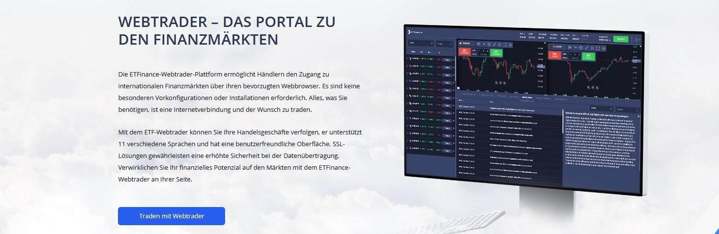 ETFinance.eu trading platform explained