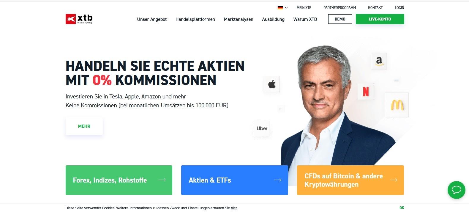 Site Web XTB