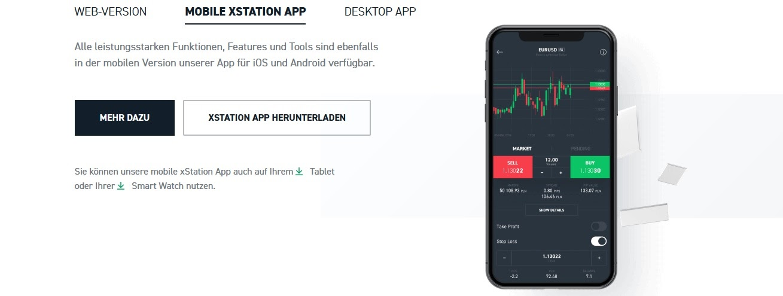 Application mobile XTB