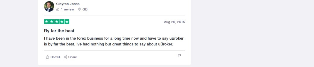 Ubrokers positive user opinion