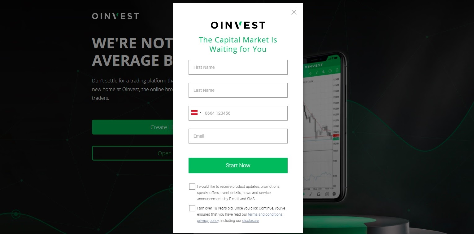 OInvest account opening