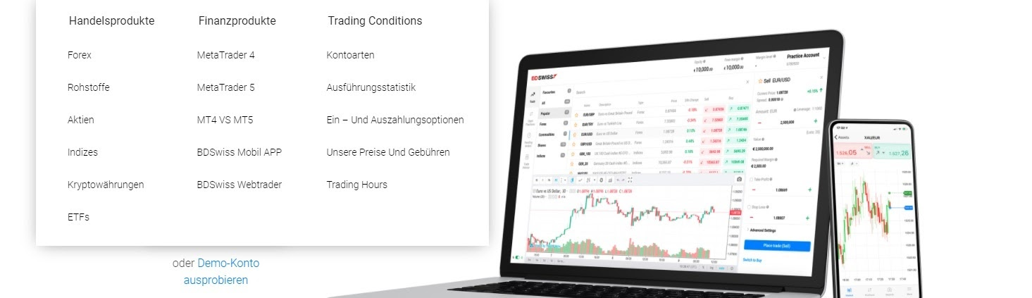 BDSwiss functions of the trading platform at a glance