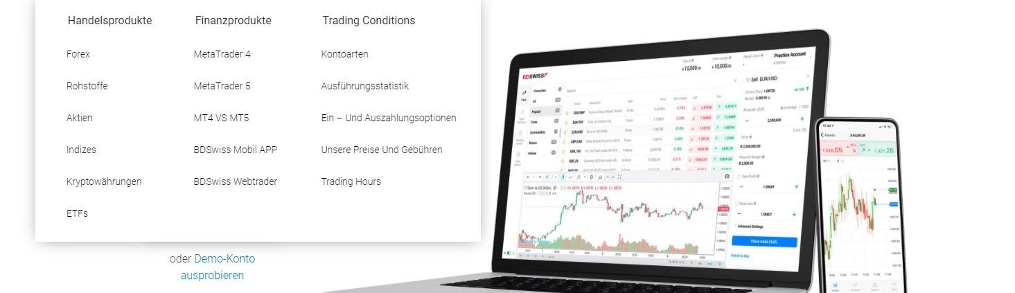 Aperçu des fonctions BDSwiss de la plateforme de trading